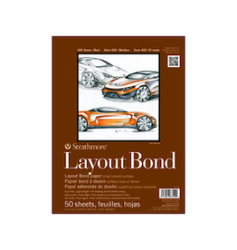 "STRATHMORE LAYOUT BOND PAD 400-SERIES 14""x17"""
