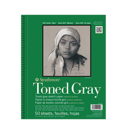 """STRATHMORE TONED PAD GRAY 9""""x12"""""""