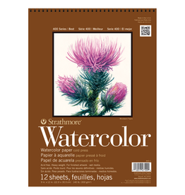 """STRATHMORE WATERCOLOR PAD COLD PRESSED 400-SERIES 9""""x12"""""""