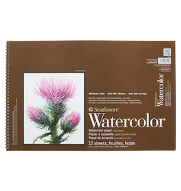 """STRATHMORE WATERCOLOR PAD COLD PRESSED 400-SERIES 12""""x18"""""""