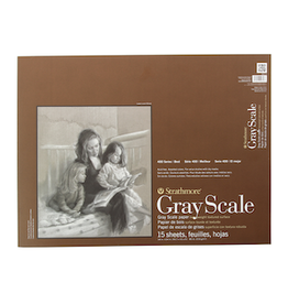 """STRATHMORE GREY SCALE PAD 12""""x18"""""""
