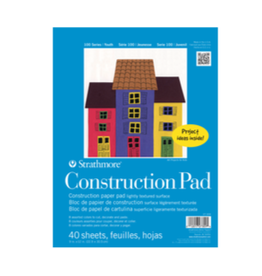 """STRATHMORE CONSTRUCTION PAPER ASSORTED 100-SERIES 9""""x12"""""""