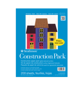 """STRATHMORE CONSTRUCTION PAPER PACK 9""""x12"""""""