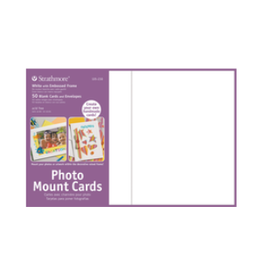 STRATHMORE PHOTO MOUNT CARDS WHITE 50-PACK