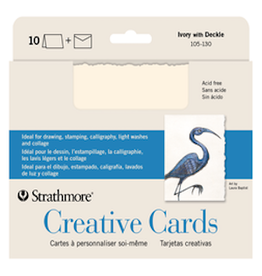 STRATHMORE ANNOUNCEMENT CARDS IVORY/ DECKLE 10-PACK
