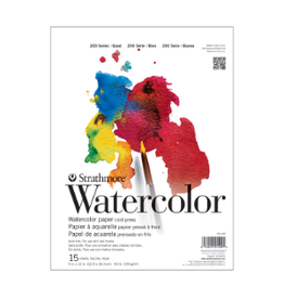 """STRATHMORE WATERCOLOR PAD 90LB COLD PRESSED 200-SERIES 11""""x15"""""""