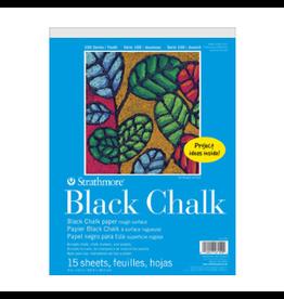 "STRATHMORE CHALK PAPER PAD BLACK 100-SERIES 9""x12"""