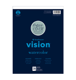 "STRATHMORE VISION WATERCOLOR PAD #140 9""x12"""