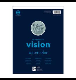 "STRATHMORE VISION WATERCOLOR PAD #140 11""x14"""