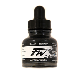 DALER-ROWNEY FW INK 1oz BLACK INDIA