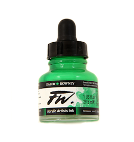 DALER-ROWNEY FW INK 1oz EMERALD GREEN