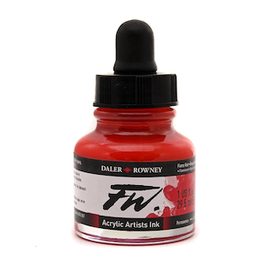 DALER-ROWNEY FW INK 1oz FLAME RED