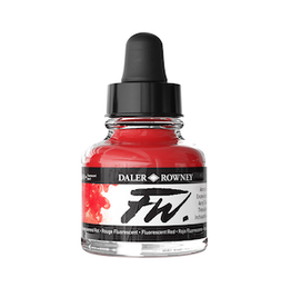 DALER-ROWNEY FW INK 1oz FLUORESCENT RED