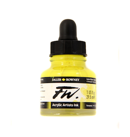 DALER-ROWNEY FW INK 1oz LEMON YELLOW