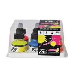 DALER-ROWNEY FW INK 1oz FLUORESCENT SET/6