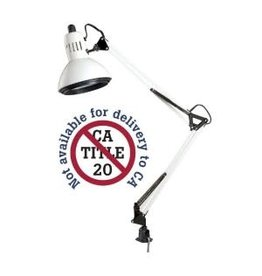 WHITE SWING ARM LAMP