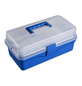 HERITAGE BLUE 2-TRAY ART TOOL BOX 13X6X3