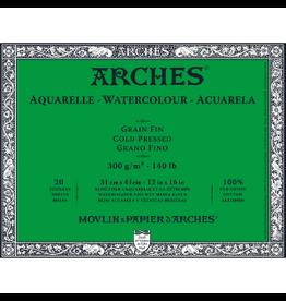 """ARCHES ARCHES BLOCK 140lb COLD PRESSED 12""""x16"""""""