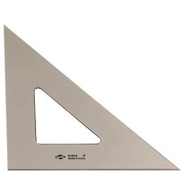 ALVIN SMOKE-TINT TRIANGLE 45/90 8""