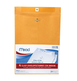 MEAD CLASP ENVELOPES 9X12 4PK
