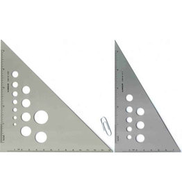 ALUMICOLOR ALUMINUM SILVER TRIANGLE 45/90 8""