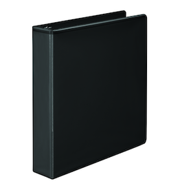 WILSON JONES BASIC D-RING VIEW BINDER BLACK 1.5""