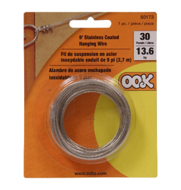 OOK HANGING STEEL STRAND WIRE 30lb