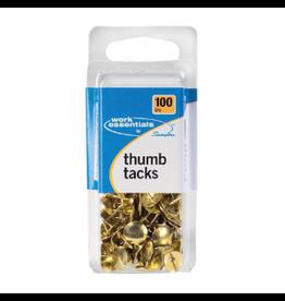 SWINGLINE THUMB TACKS GOLD PACK/100