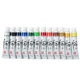 KOI WATERCOLORS KOI WATERCOLOR 12ml IVORY BLACK