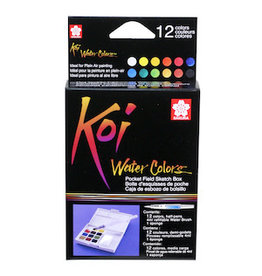 KOI WATERCOLORS KOI WATERCOLOR FIELD SKETCHBOX SET/12