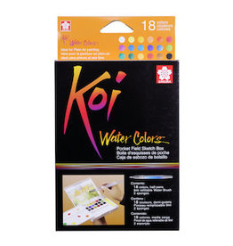 KOI WATERCOLORS KOI WATERCOLOR FIELD SKETCHBOX SET/18