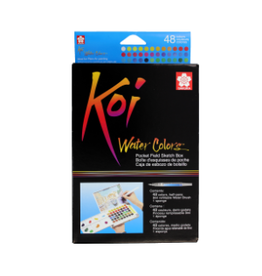 KOI WATERCOLORS KOI WATERCOLOR FIELD SKETCHBOX SET/48