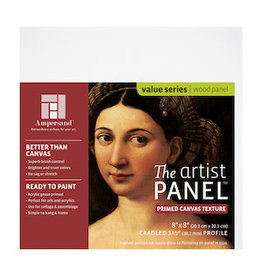 AMPERSAND ARTIST PANEL CANVAS TEXTURE 1.5'' 8x8