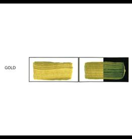 HULLS ACRYLIC 32OZ JAR GOLD