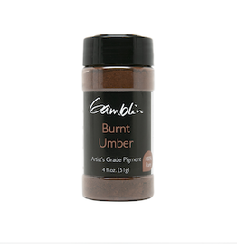 GAMBLIN GAMBLIN DRY PIGMENT 4oz BURNT UMBER