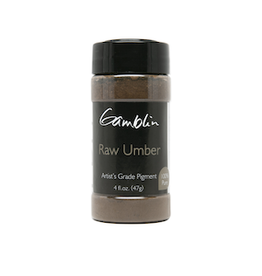 GAMBLIN GAMBLIN DRY PIGMENT 4oz RAW UMBER