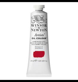 WINSOR & NEWTON ARTISTS' OIL COLOR 37ml TUBE CADMIUM RED DEEP