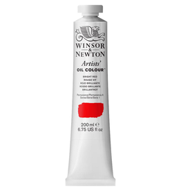 WINSOR & NEWTON ARTISTS' OIL COLOR 200ml TUBE BRIGHT RED