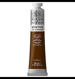 WINSOR & NEWTON WINTON OIL COLOR 200ml TUBE BURNT UMBER