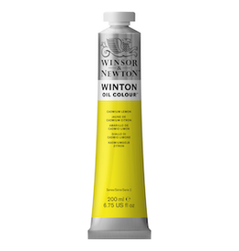 WINSOR & NEWTON WINTON OIL COLOR 200ml TUBE CADMIUM LEMON
