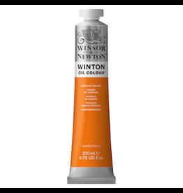 WINSOR & NEWTON WINTON OIL COLOR 200ml TUBE CADMIUM ORANGE HUE
