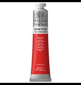 WINSOR & NEWTON WINTON OIL COLOR 200ml TUBE CADMIUM RED MEDIUM