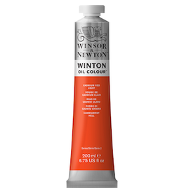 WINSOR & NEWTON WINTON OIL COLOR 200ml TUBE CADMIUM RED LIGHT
