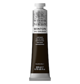 WINSOR & NEWTON WINTON OIL COLOR 200ml TUBE LAMP BLACK