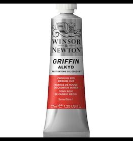 WINSOR & NEWTON GRIFFIN 37ml TUBE CADMIUM RED MEDIUM HUE