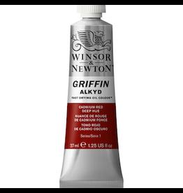 WINSOR & NEWTON GRIFFIN 37ml TUBE CADMIUM RED DEEP HUE