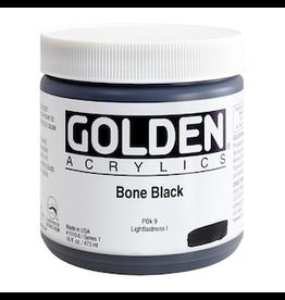GOLDEN ACRYLICS HEAVY BODY ACRYLIC 16oz BONE BLACK