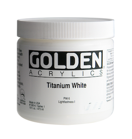 GOLDEN ACRYLICS HEAVY BODY ACRYLIC 16oz TITANIUM WHITE