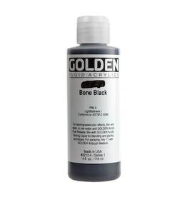 GOLDEN ACRYLICS FLUID ACRYLIC 4oz BONE BLACK