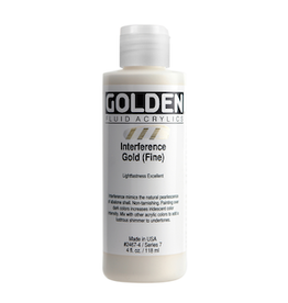 GOLDEN ACRYLICS FLUID ACRYLIC 4oz INTERFERENCE GOLD FINE
